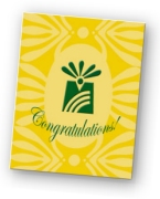 Congratulations! tribute card