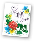 Get Well tribute card