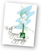 Sympathy tribute card