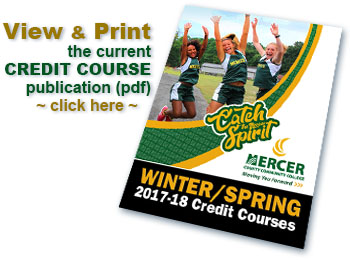 Mercer county community college enrollment services credit course tabloid pdf sciox Images