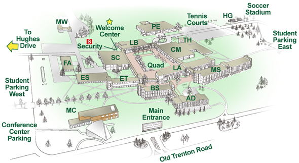 university of windsor campus map Mercer County Community College West Windsor Campus Map