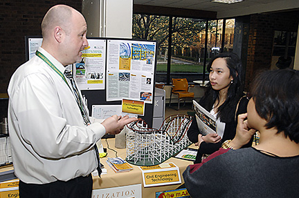 Jim Maccariella with prospective students