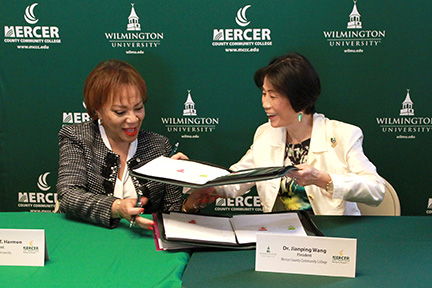 WilmU signs agreement with MCCC to offer bachelor's degree programs to students at Trenton Campus