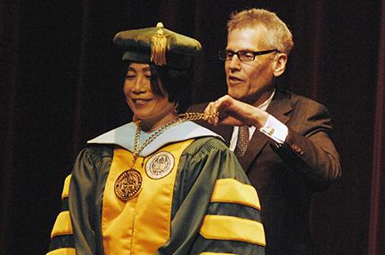 Dr. Jianping Wang and Mark Matzen