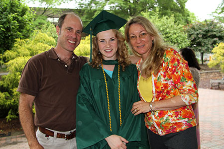MCCC grad Sierra Downs and parents
